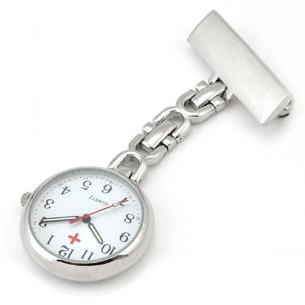 の間で暗い重大(よんピース)4 piece ナース ウォッチ クリップ 看護師用 時計 逆さ 文字盤 KH0003