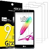 NEW'C 3 Stück, Schutzfolie Panzerglas für LG G4 Stylus, Frei von Kratzern, 9H Festigkeit, HD Bildschirmschutzfolie, 0.33mm Ultra-klar, Ultrawiderstandsfähig