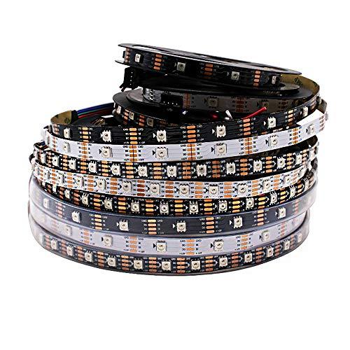 Ws2815 DC12V RGB LED Pixels Strip Light Adrible Individualmente LED Dual-SignalIP65 5 m 30 LED blanco...