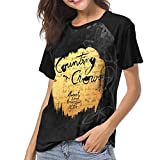 Mabb Counting Crows August and Everything After Womens Short Sleeve Raglan Baseball T Shirts Black M