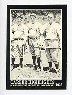 "Babe Ruth ベーブ・ルース 1992 Megacards #89 Lou Gehrig, Jimmie Foxx""オールスターゲーム 1933年"""