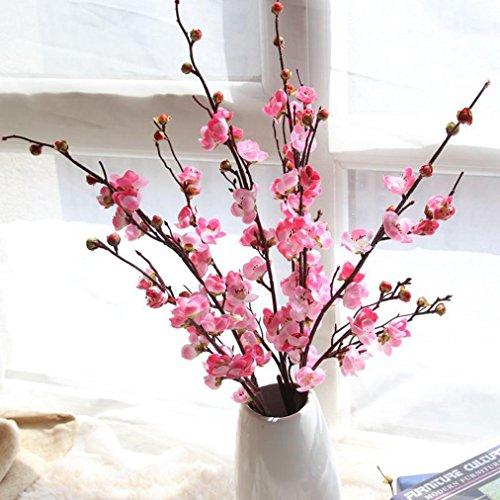 Mitlfuny Unechte Blumen, Künstliche gefälschte Blumen Pflaumenblüte Floral Wedding Bouquet Home Decor Haus Garten Party Blumenschmuck (rosa)