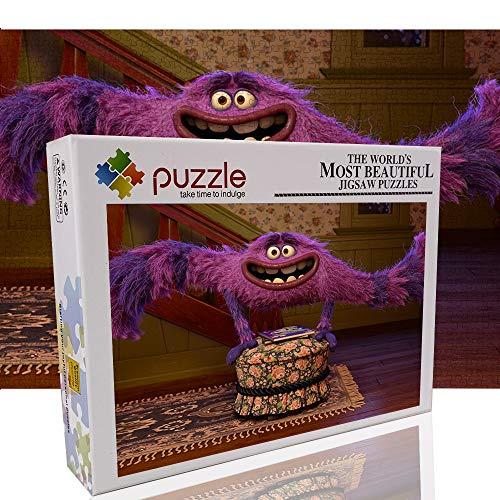 Fluff Monster Classic Puzzle 1000 Piezas de Rompecabezas para niños Monster University Juegos educativos Rompecabezas El Regalo Ideal para aliviar el aburrimiento (70x50cm)