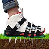 KOFULL Lawn Aerator Shoes,with Universal Size£¬Adjustable Straps for Effectively Aerating Lawn Soil and a Healthier Yard & Garden (green-4straps)