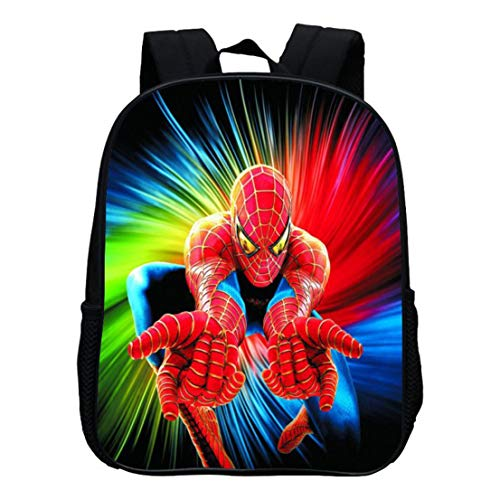 MODRYER Los niños del Bolso del Hombre de araña Mochila 3D Imprimir Estudiantes Mochila Bolsa de Chicas Ligero Almuerzo Niños Mochila Resistente Bookbag,Spiderman 02