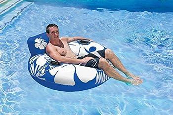 Poolmaster Day Dreamer Swimming Pool Inner Tube Lounge Blue