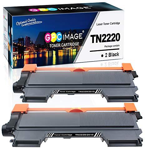 GPC Image TN2220 TN2010 TN-2220 TN-2010 Kompatibel Toner Patronen Ersatz für Brother MFC-7460DN HL-2250DN HL-2130 HL-2270DW HL-2240D MFC-7360N FAX-2840 HL-2240 DCP-7065DN HL-2132 (Schwarz,2-Pack)