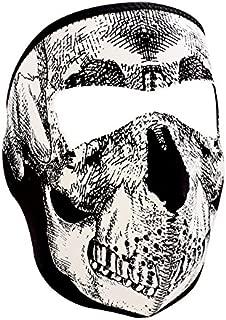 Zanheadgear White/Black Skull Neoprene Face Mask