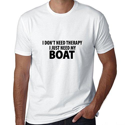 Ik heb geen therapie nodig - ik heb gewoon mijn boot nodig - grappig heren T-shirt