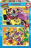 Educa - Mickey and The Roadster Racers 2 Puzzles infantiles de 48 piezas, a partir de 4 años (17239)