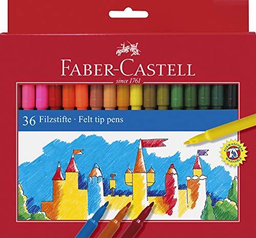 Faber Castell 554236 - Estuche de cartón con 36 rotuladores