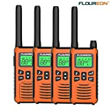 Walkie Talkies for Kids 4 Pack FLOUREON Long Range Two Way Radio 22