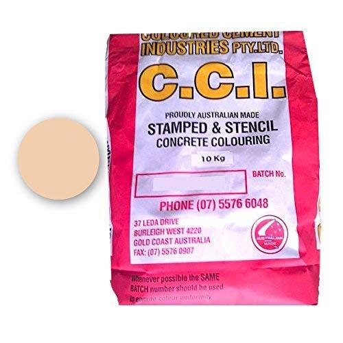 コンクリート用 顔料 着色の色粉 コンクリートカラーリング表面着色材 (10kg, ファウン)