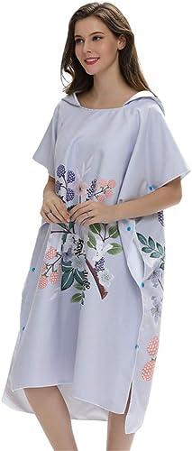 Poncho changer de robe d'adulte Serviette de plage pour adultes - Peignoir de bain à capuchon pour adultes - Poncho de remplaceHommest pour serviette   Séchage rapide Taille unique pour la plupart pour l