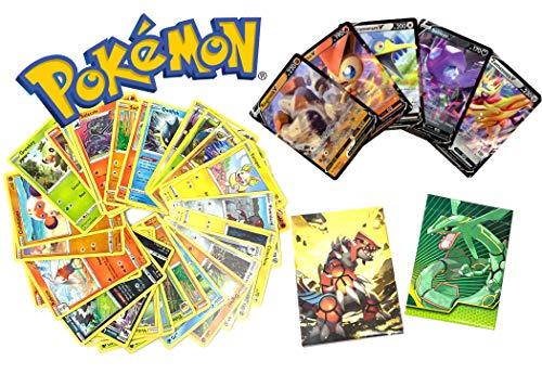Sword & Shield Pokemon V - 50 Card Lot - (1 Ultra Rare Pokemon V Card) - Includes Pokemon Card Box