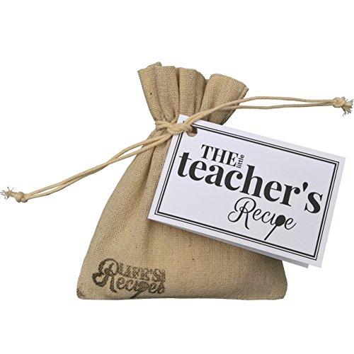 The Little Teachers Recipe - Regalo único y divertido de agradecimiento a profesor o tutor, alternativa a una tarjeta