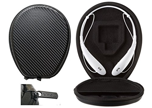 PXF Headphone Carry case (Size:180x150x30mm) Box for LG Tone Case HBS 730/750 / 760/770 / 810/900 / 910 - Bluetooth Headset Hard Shell Headset
