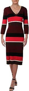فستان مخطط من الصوف للسيدات جراند ايف ميرينو من ترينا ترك