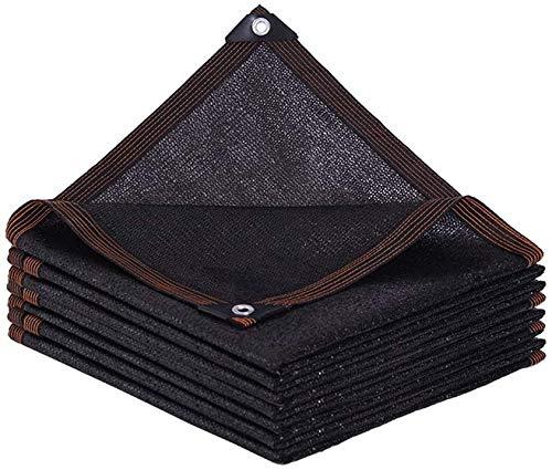 NOOYC Balkon Sichtschutz Grau UV-Schutz, Gewächshäuser Net Schutzhülle Sonnensegel Sunblock Cloth Perfekt für den Einsatz rund um das Haus und Garten,Black_2x2.5m