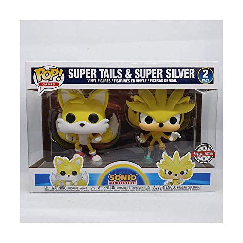 Funko Sonic The Hedgehog - Super Tails & Super Silver 2 Pack (solo plateado)
