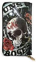 ガンズ?アンド?ローゼズ Guns N Roses 8 財布 長財布 人気 牛革 大容量 多機能 防水 メンズ レディース 薄い 財布 男女兼用