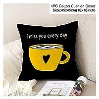 クッションカバー ソファのための の幾何学的な黄色の枕カバーの装飾的なクッション DIY.プリントピローチェアカークッションクリスマスの家の装飾 (Color : Style 23)