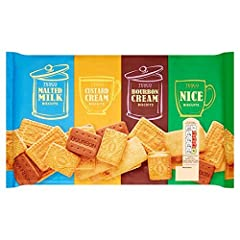 Supplied Biscuit barrel selection pack 700g Biscuit barrel selection pack Bourbon cream, nice, malted milk, custard cream