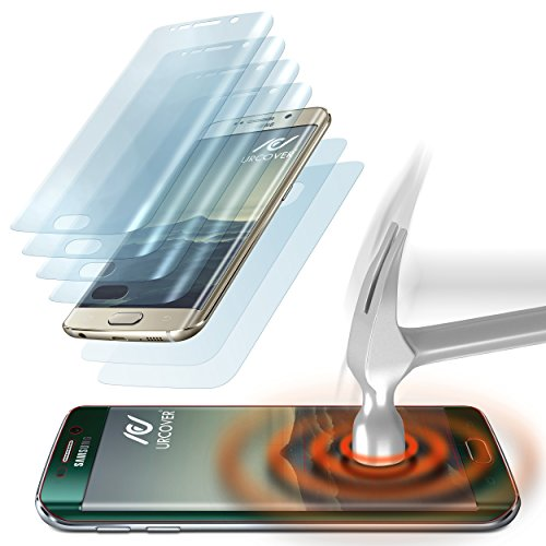 Urcover beschermfolie compatibel met Samsung Galaxy S6 Edge | afgerond TPU scherm bescherming mobiele telefoon Screen-Protector Edge to Edge