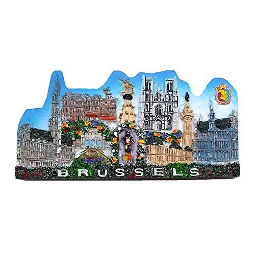 3D-Kühlschrankmagnet, Motiv: Brüssel-Belgien, Tourist Souvenir, Geschenkkollektion für Zuhause, Küche, Dekoration, Magnet-Aufkleber