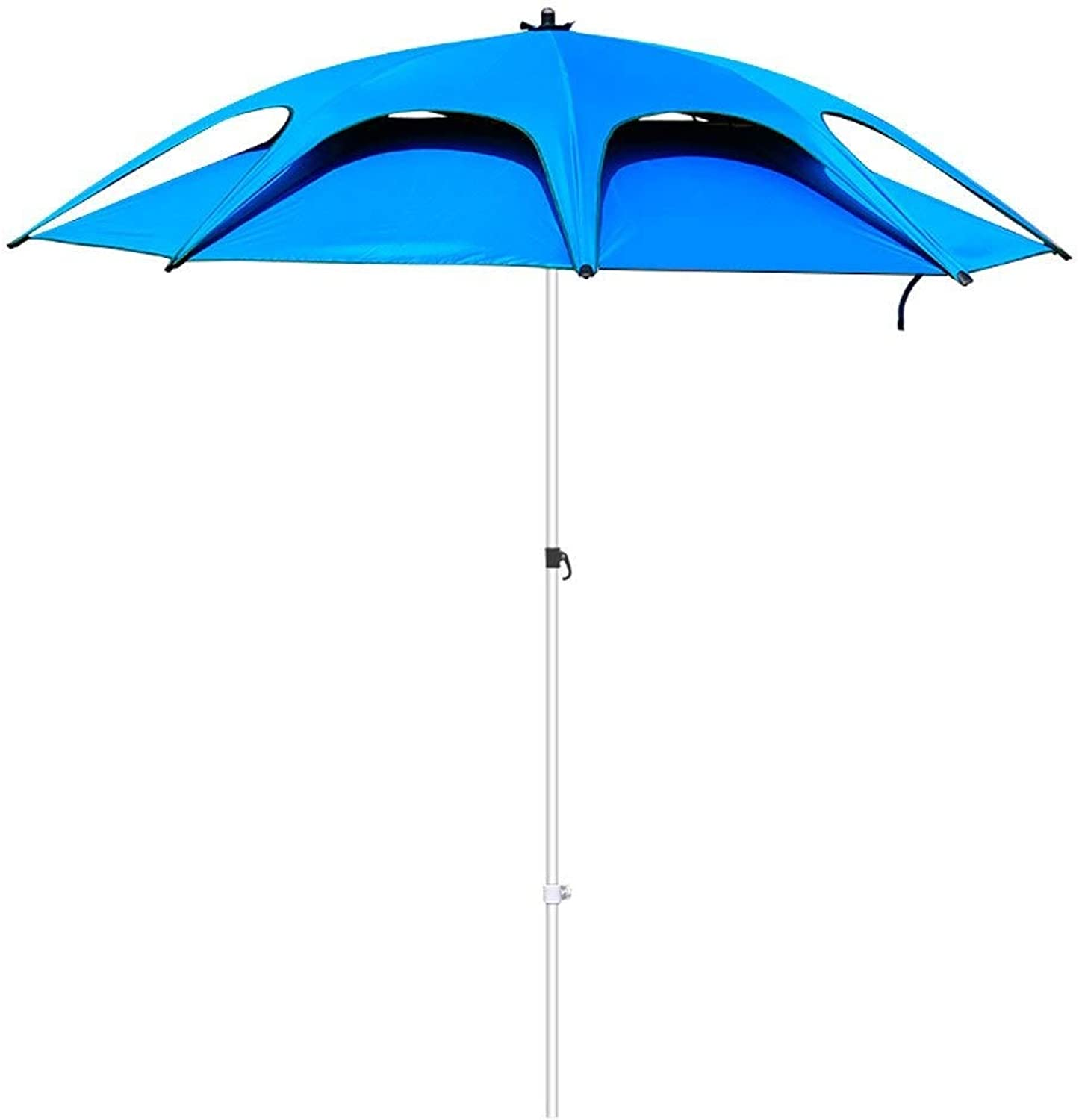 POLBB Outdoor Umbrella 2.4 M Double Curved Outdoor Leisure Fishing Umbrella Parasol Rainproof Fishing Supplies Outdoor Fishing Equipment Ventilation Umbrella