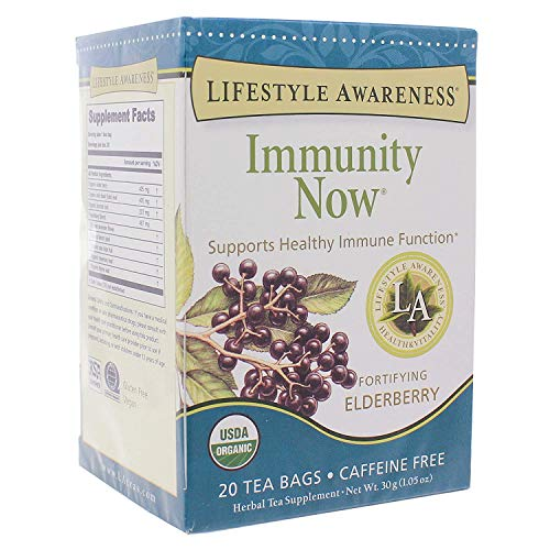 Lifestyle Awareness, Immunity Now with Fortifying Elderberry, Caffeine Free, Organic, 20 Count / 2 Pack