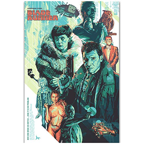 Blade Runner 1982 Movie Classic Film Painting Art Poster Decoración regalo Lienzo Pintura Decoración para el hogar Picture Print -50x70cm Sin marco