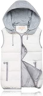 KINDOYO Women Winter Gilet - Hooded Full Zipper Tops Sleeveless Down Jacket Coat Vest Outwear with Pocket