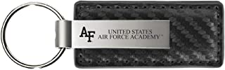 LXG, Inc. United States Air Force Academy-Carbon Fiber Leather and Metal Key Tag-Grey