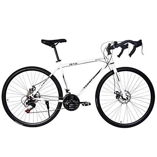 Road Bike for Men & Women - Aluminum Full Suspension Road Bike 21 Speed, Disc Brakes, 700c - City Commuter Bike Road Bike Outroad Bike - Outdoor Racing Cycling Outroad Commute