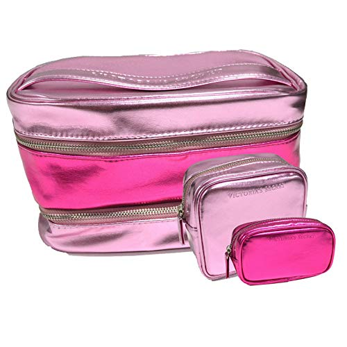 Victoria's Secret Kosmetiktasche, 3-teilig, Pink