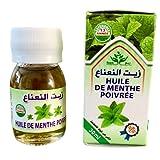 Huile de Menthe Poivrée - 100% Naturelle - Sans conservateurs - Produit au Maroc - Aromathérapie détente massage - hydrate soulage les démengaisons