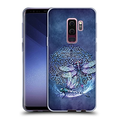 Head Case Designs Officially Licensed Brigid Ashwood Dragonfly Celtic Wisdom Soft Gel Case Compatible with Samsung Galaxy S9+ / S9 Plus