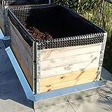 Lust Ideen aus Blech Typ 02 VDA Galvalume® Alu Zink Hochbeet Set Schneckenzaun passend für Hochbeete mit den Maßen 80-110 cm Breite und 80-120 cm Länge
