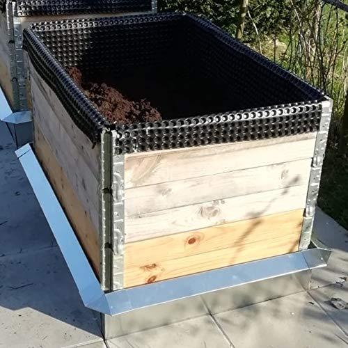 Lust Ideen aus Blech Typ 02 VDA Alu Zink Hochbeet Set Schneckenzaun passend für Hochbeete mit den Maßen 80-110 cm Breite und 80-120 cm Länge