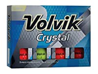 Volvik クリスタルゴルフボール マルチカラー 1ダース入り