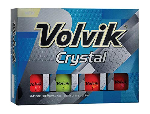 Volvik Crystal Golf Balls, Multicolor (One Dozen)
