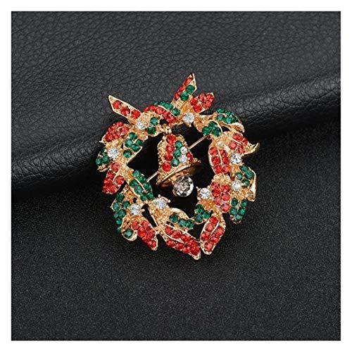 HMYDZ Heißen kreative Weihnachtsmann Weihnachtsbaum Socken Hut-Socken-Strass Broschen for Frauen-Geschenk (Color : B289)