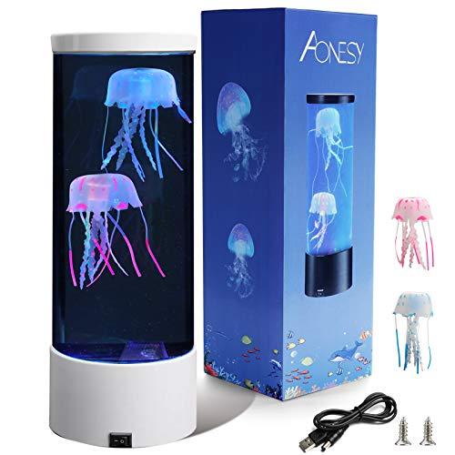 Quallen Aquarium Lampe Fantasy Quallen Lampe Farbe ändernde Stimmung Licht Geschenk für Kinder Männer Frauen Home Deco für Zimmer