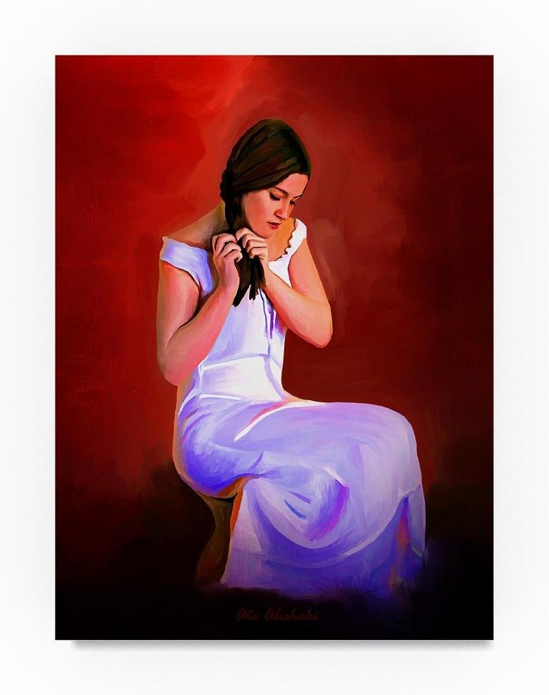 Trademark Fine Art Ata Alishahi Braiding Hair Wall Décor, 14 x 19