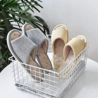 Cotton Slippers Open Slippers Spring and Autumn Breathable Comfortable Men and Women Home Indoor Non-Slip Couple Household Wooden Floor Slippers