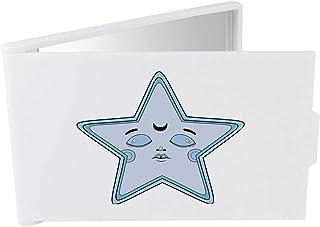 'Blue Sleepy Star' Compact / Travel / Pocket Makeup Mirror (CM00024330)