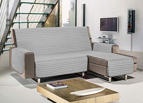 Biancheriaweb - Funda para sofá Penisola acolchada antimanchas impermeable modelo Olimpo gris