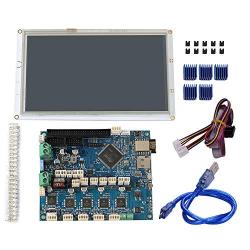 Walory Duetto 2 Wifi, Parti della stampante 3D Clone Duet 2 Wifi V1.04 Duetwifi Scheda madre elettronica a 32 bit avanzata con pannello da 7 pollici Controller controller touchscreen a colori inte