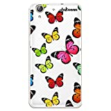 dakanna Funda para [ Huawei Y6 II - Honor 5A ] de Silicona Flexible, Dibujo Diseño [ Estampado de Mariposas Multicolor ], Color [Fondo Transparente] Carcasa Case Cover de Gel TPU para Smartphone